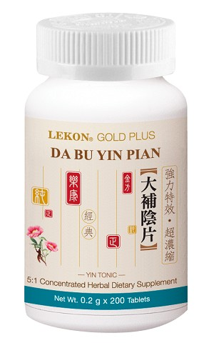 Da Bu Yin Pian; Yin Tonic (Bottle/200 tablets) 大補陰片
