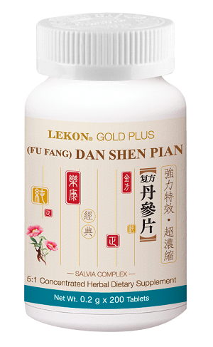 Dan Shen (Fu Fang) Pian; Salvia Complex (Bottle/200 tablets) 丹參(復方)片
