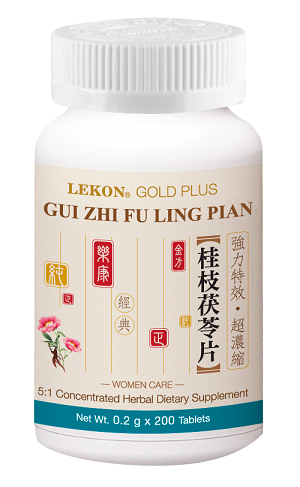 Gui Zhi Fu Ling Pian; Women Care (Bottle/200 tablets) 桂枝茯苓片