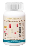 Tian Ma Du Zhong Pian; Tian Ma & Du Zhong Tablets (Bottle/200 tablets) 天麻杜仲片