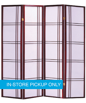 New RM Wood Frame Cherry 4-Panel Screen